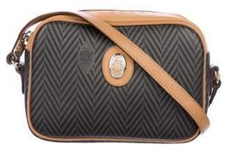 Mark Cross Leather-Trimmed Crossbody Bag