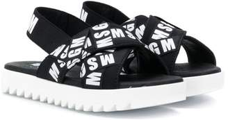MSGM Kids logo sandals