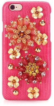 Dolce & Gabbana Embellished leather iPhone 6 case