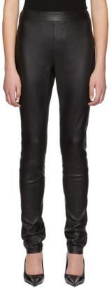 Helmut Lang Black Leather Leggings