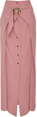 Chemia Nanushka Tie Front Cupro Maxi Skirt