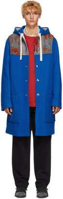 Acne Studios Blue Wool Duffle Coat