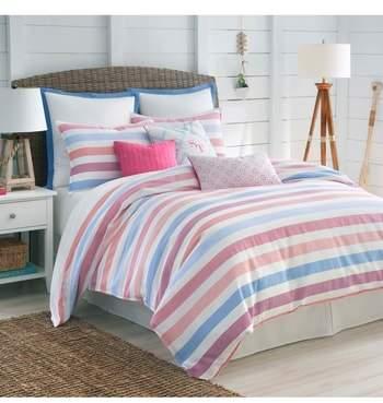 Southern Tide Long Bay Stripe Comforter, Sham & Bed Skirt Set