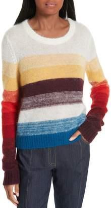 Cinq à Sept Alizeh Stripe Mohair & Wool Sweater