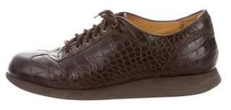 Ralph Lauren Crocodile Low-Top Sneakers