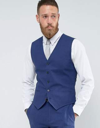 French Connection Slim Fit Linen Waistcoat