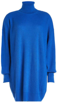 Maison Margiela Ribbed Wool Turtleneck with Contrast Elbow Patches