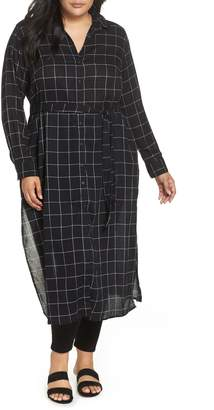 Sanctuary Jess Windowpane Maxi Shirtdress