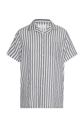 Onia Vacation Striped Poplin Shirt