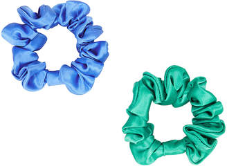 Colette Malouf Set Of 2 Silk Scrunchies