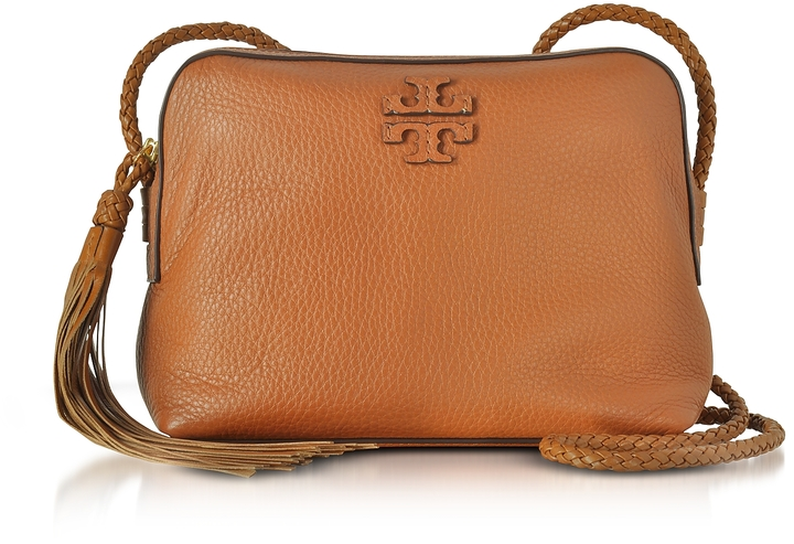Tory Burch Taylor Saddle Pebble Leather Camera Bag