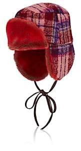 Albertus Swanepoel Women's Marley Wool Trapper Hat - Red