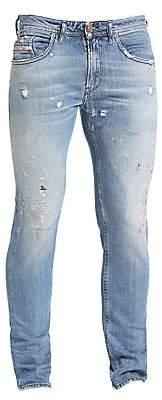 Diesel Men's Thommer Low-Rise Slim-Fit Distressed Drop Pin Jeans
