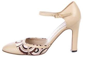 Chanel Leather D'Orsay Pumps