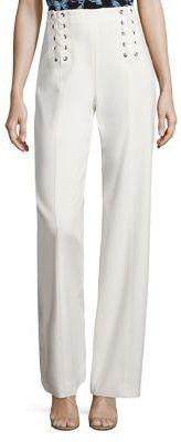 Nanette Lepore Lace-Up Straight-Leg Pants $398 thestylecure.com