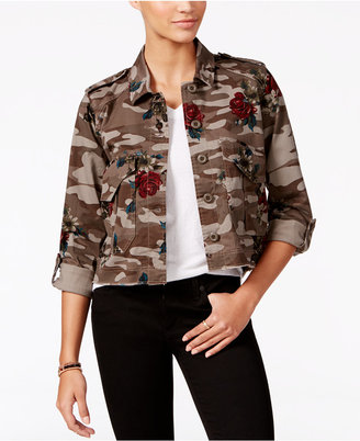 American Rag Cropped Camo-Print Cargo Jacket, Only at Macy's $69.50 thestylecure.com