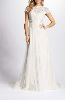 TI ADORA BY ALLISON WEBB Lace & Tulle A-Line Gown