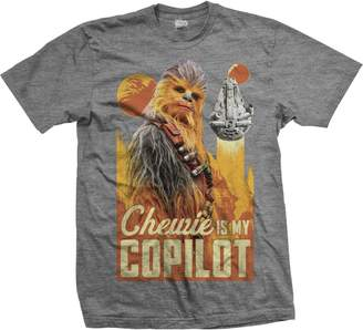Star Wars Tee Shack Han Solo Chewbacca Millennium Falcon Official Tee T-Shirt Mens Unisex