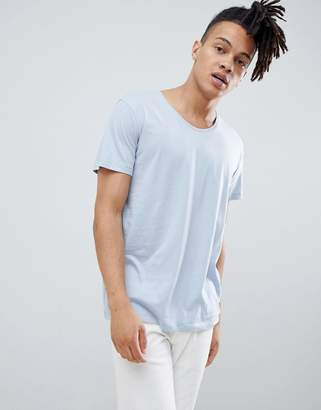 Weekday daniel scoop neck t-shirt light blue