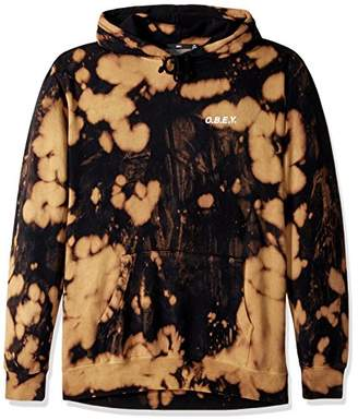 Obey Men's Basic Pullover Hood Fleece Sweatshirt Tie Dye