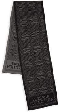 Versace Logo Printed Wool-Blend Scarf