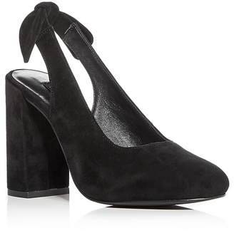 Senso Women's Xeno Suede Block Heel Slingback Pumps