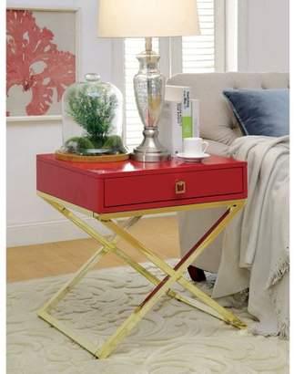 Furniture of America Ferina Contemporary Side Table, Multiple Colors