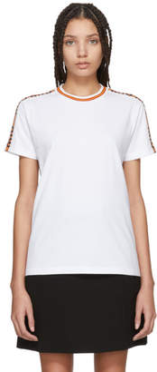 Miu Miu White Logo Tape T-Shirt