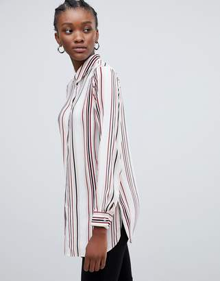 New Look Stripe Collar Blouse