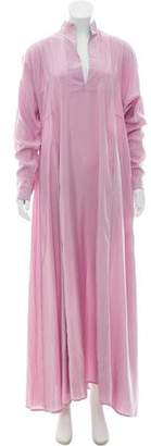 Thierry Colson Silk Oversize Maxi Dress