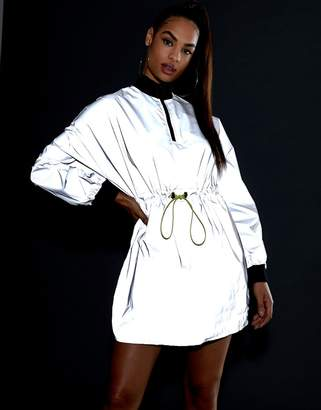 Asos Design DESIGN reflective track dress