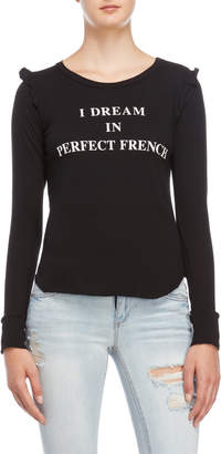 Wildfox Couture I Dream in French Long Sleeve Tee