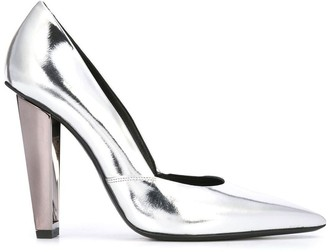 Poiret metallic-heel pumps