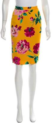 Dolce & Gabbana Floral Printed Silk Skirt