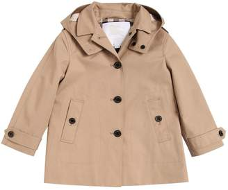 Burberry Hooded Cotton Gabardine Coat