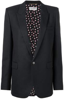 Saint Laurent single button blazer