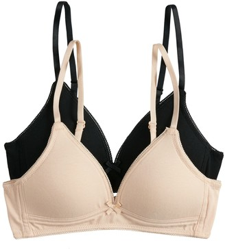 So Girls 7-16 SO 2-pack Wire-Free Padded Bras