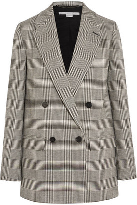 Stella McCartney - Milly Prince Of Wales Checked Wool-blend Blazer - Gray