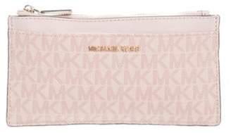 Michael Kors Monogram Leather Wallet Mauve Monogram Leather Wallet