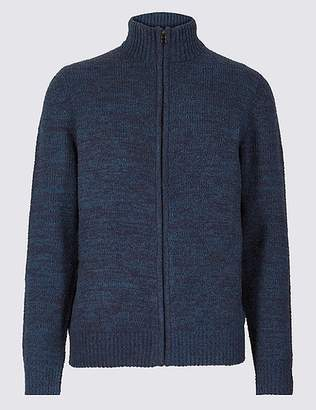Marks and Spencer Chenille Zip Through Cardigan