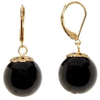 Trina Turk 16mm Bead Drop Leverback Earrings