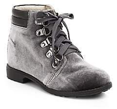 Old Soles Little Girl's & Girl's Luxe Velvet Hiking Boots