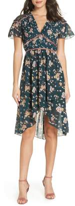 Chelsea28 Floral Pleat & Lace Mix Dress