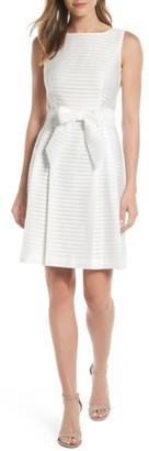 Women's Anne Klein Shadow Stripe Fit & Flare Dress $129 thestylecure.com