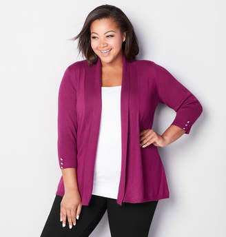 Avenue Ribbed Inset Cardigan