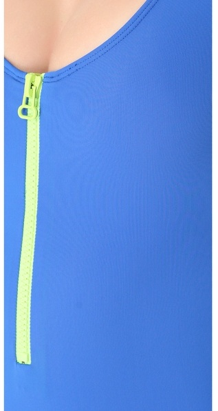 Cynthia Rowley Solid Scuba Zip Swimsuit