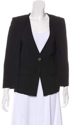 Halston Layered Wool-Blend Vest