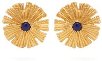 Aurelie Bidermann Sofia Gold Plated Flower Earrings - Womens - Gold