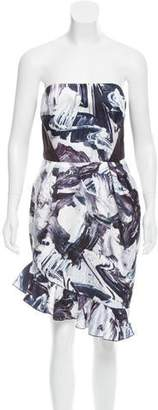 Prabal Gurung Strapless Printed Dress