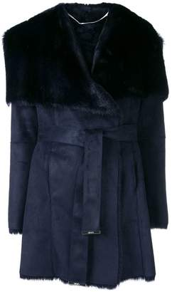 Liu Jo fur lined belted jacket